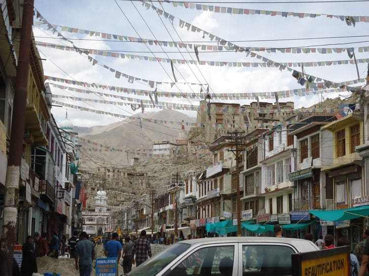 Leh_Main Bazaar_india