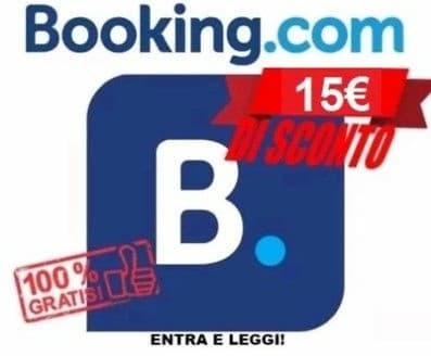 15 euro sconto Booking